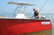 yamaha engine boat made of aluminum