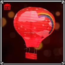 Fantastic and dreaming colorful led linghting hot air ballon paper lanterns JLS03-3