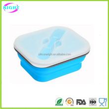 Silicon folding lunch box Silicone container