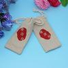 Jute mini drawstring bags gift