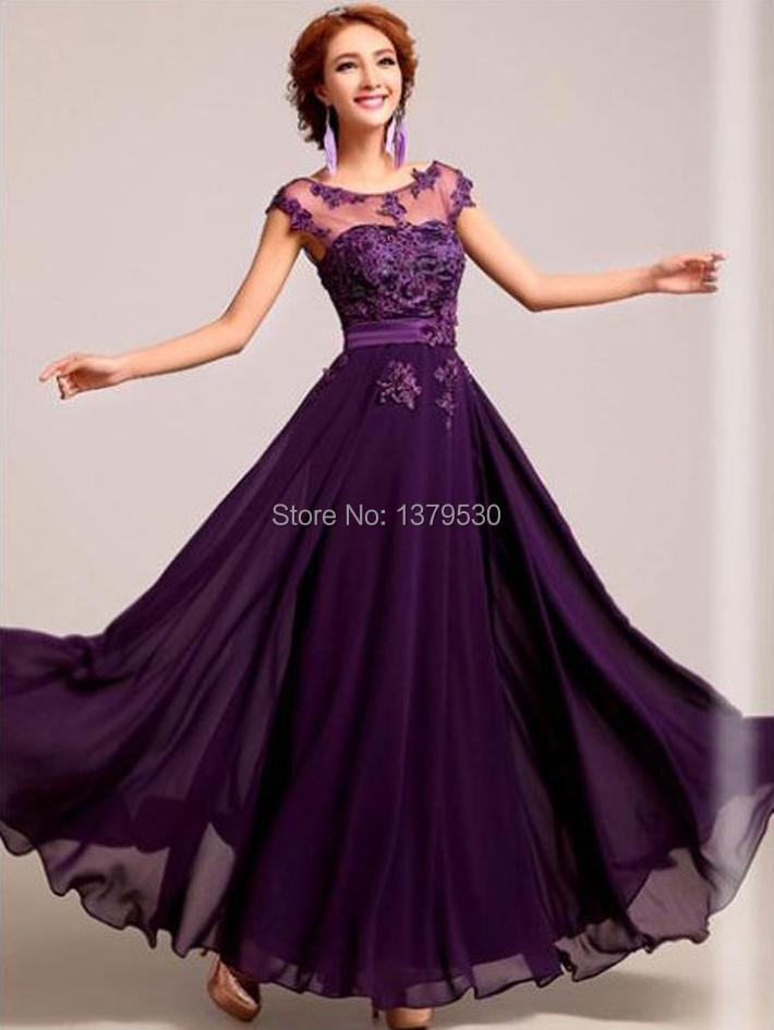 Вечернее платье шифон и кружево