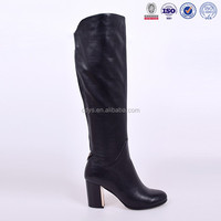 black genuine leather women boots shose women boots for OEM/ODM order