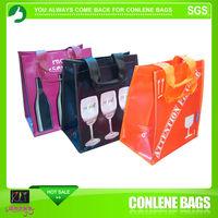 6 bottles wine supermarket carrier bag pp