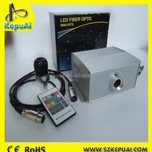 Multifunctional DMX 1001 fiber optic light engine with synchronizer for fiber optics water curtain
