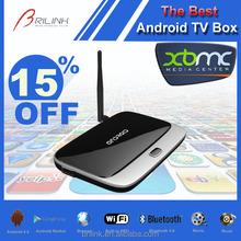 Quad Core Android 1080P Google Chrome TV Box, Google TV Converter Box, WIFI Internet TV Box 2GB RAM 8GB ROM with Bluetooth 4.0