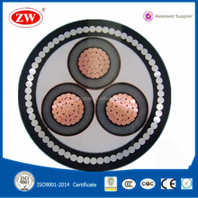 PVC or XLPE insulated copper conductor 3 core 150mm2 power cable