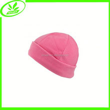 Soft boys and girls pink fleece baby hats