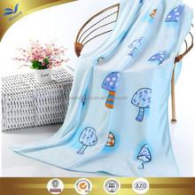 china manufacturer microfiber reactive printed bath towel fancy little mushroom model printed brushed kids bath towels 60*120 cm