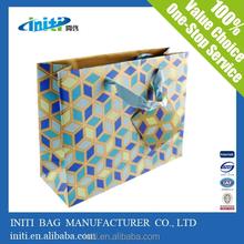 Custom Logo Printed brown craft gift shopping paper bag advertising bag