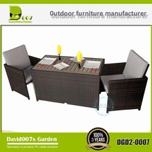 New outdoor wicker garden furniture plastic tables small cafe table