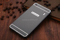 Mobile accessories 2 in1 Aluminum Metal bumper + Hard Plastic Acrylic back cover case for lenovo k3 note china price