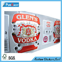 EX-Work private label vodka label printing