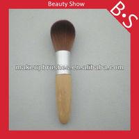 Top quality bamboo powder/blush makeup brush,single makeup/cosmetic brush,bamboo handle makeup brush