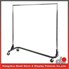Heavy Duty Commercial chrome Rail Rolling Z rack
