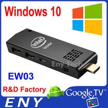 Intel atom Z3735F1080p mini pc, output intel TV stick, WIN10 OS tv stick