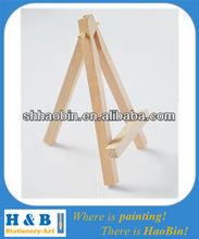 Small desktop wood easel