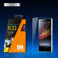 9h anti shock 0.15mm 0.2mm 0.33mm 2.5D curved edges and right angle tempered glass screen guard film for sony xperia c c2305 s39