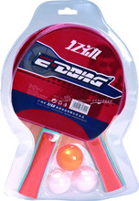 Top selling Long handle best table tennis racket with 1 yellow ball and 2 white ball E-1791