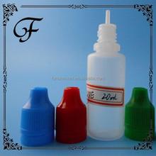 e-liquid eye drop bottle childproof&tamperproof dropper bottle for ecig oil with white cap