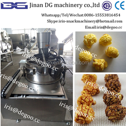 Hot oil -air popcorn production line