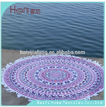 Beach Cloth Picnic Throw Cotton Mandala Tapestry Bedspread/Indian Mandala round beach towels with tassels with the lowest price