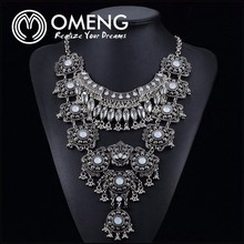 Fashion Retro Bright Peacock Flash Diamond Necklace