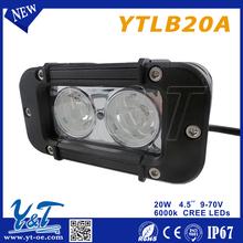 """Shenzhen factory OEM 20w led light bar 4.6"""" 24v led light ip67 led work driving light"""