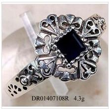 Hot Model! Update designs Black Zircon Flower Male Ring