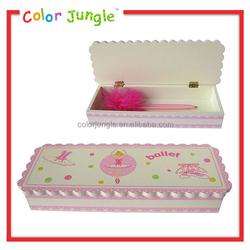 New wooden pencil box designs girly wooden pencil box fancy pencil box