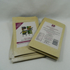 white kraft silver silk rice paper pouch for food with rectangle window packaging bags