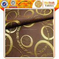 Circle polyester wholesale jacquard woven thin fabric curtain