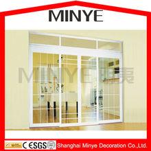 Fabbrica di porcellana moderni utilizzati esterno in pvc porte e finestre fronte dei prezzi porte, porta pvc