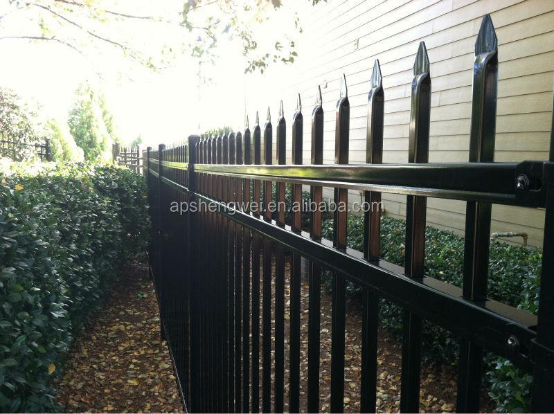 Shengwei fence powder coated galvanized backyard metal