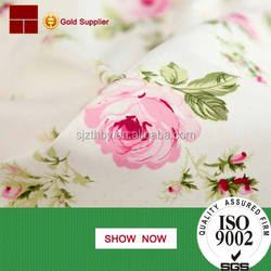 2016 fashion custom design printed 100% cotton fabric for bed sheets