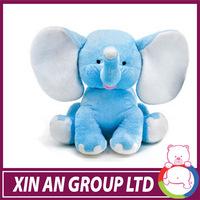 stuffed blue elephant