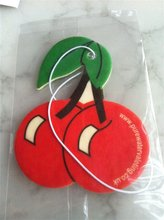 2015 cherry shape paper material car air freshener for promotion