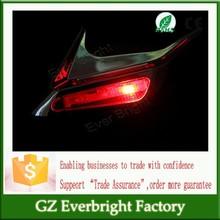 Trade Assurance 2015 new Solar Powered Car Shark Cheek LED Warning Flash Tail Light Traffic Alert Decorative Lights