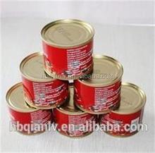 Haute qualité tomate purée OEM marques de ketchup