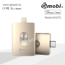 2016 Mobile phone H27C Gmobi iStick USB OTG Flash Drive for iPhone 6/6 plus/5/5S iPad mini iPod with File Management