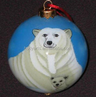 Wholesale new design and high quality Colorful Hanging Christmas Glass Ball
