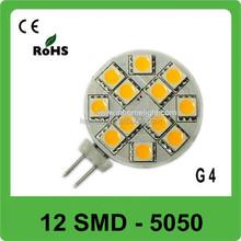 Factory supply 12 SMD 5050 g4 led bulb