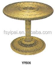 Round table top rattan pub coffee bar table YPB06
