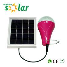 2015 new products portable solar kit with 2.5w PV solar panel. mini solar lighting kit