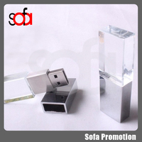 2015 hotsale cheap crystal usb flash drive with OEM accept