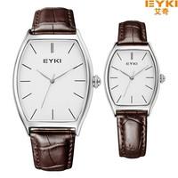 China Manufacture Directly lover's watch Tonneau Shape women Brown clock Men brand sports Watches