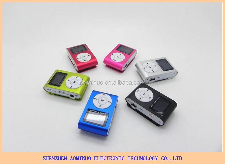 Pas cher mini LED Clip écran mp3 musique téléchargement gratuit avec fonction fm, Musique à écouter livraison mp3 avec écran