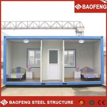 modern prefabricated living container house for family