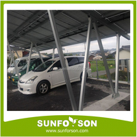 Car parking solar carport mounting support structures