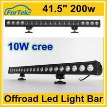 rigid single row 10w cree led off road light bar 41.5 inch 200w for ATV, SUV