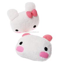 2015 Hot sale a pair lovely Soft Plush Carton Animals Rabbit auto Headrest pillow cushion